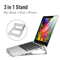 Metal fanless notebook cooling pad stand holder mount for 11 13 14 15 inch laptops