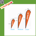 Customized 110g knitted polyester dye sublimation printed advertising teardrop banner