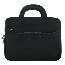 Portable Neoprene Laptop Sleeve Carrying Handle Laptop Case With Accessory Pocket