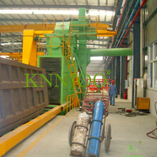 Roller Conveyor Shot Blasting Machine for Vertical Steel Plate with Painting Line