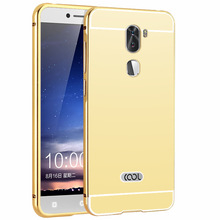 mirror case for Coolpad cool1, mirror back bumper cover aluminum case for letv cool1