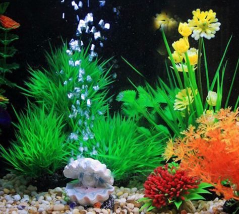 Aquarium Pearl Shell Air Bubble Stone Fish Tank Toys Decoration Oxygen Pump Air Pump Drive Ornament