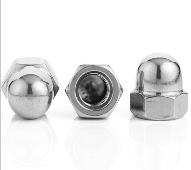 stainless steel A2-70 GB/T 923 standard hexagon dom cap nut
