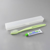 Airline toothbrush set in case toothbrush in travel case