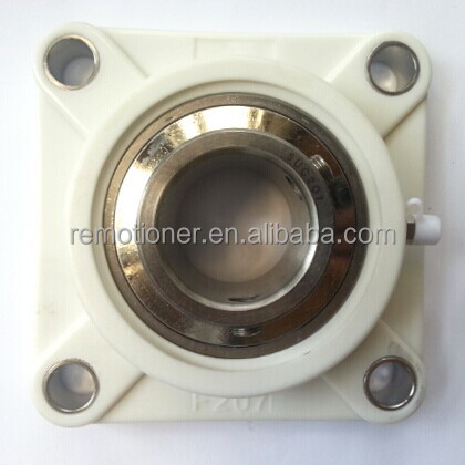 plastic pillow block housing bearing with stainless steel bearing UCF207-20