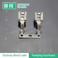DJ6212-6.3 The back joint terminal/ brass piggyback electric terminal plug chain connector