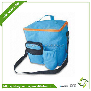 Recyclable portable cake bottle food cooler bag