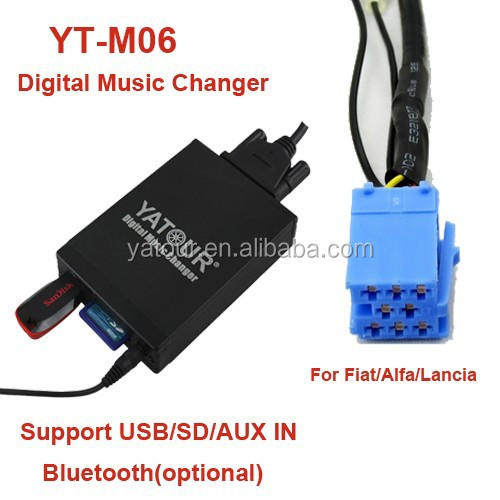 Yatour Car radio USB/SD/AUX/Bluetooth connector for Fiat/Alfa Romeo/Lancia