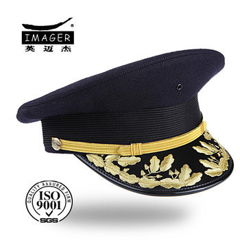 Honorable real bordado de oro militar visera