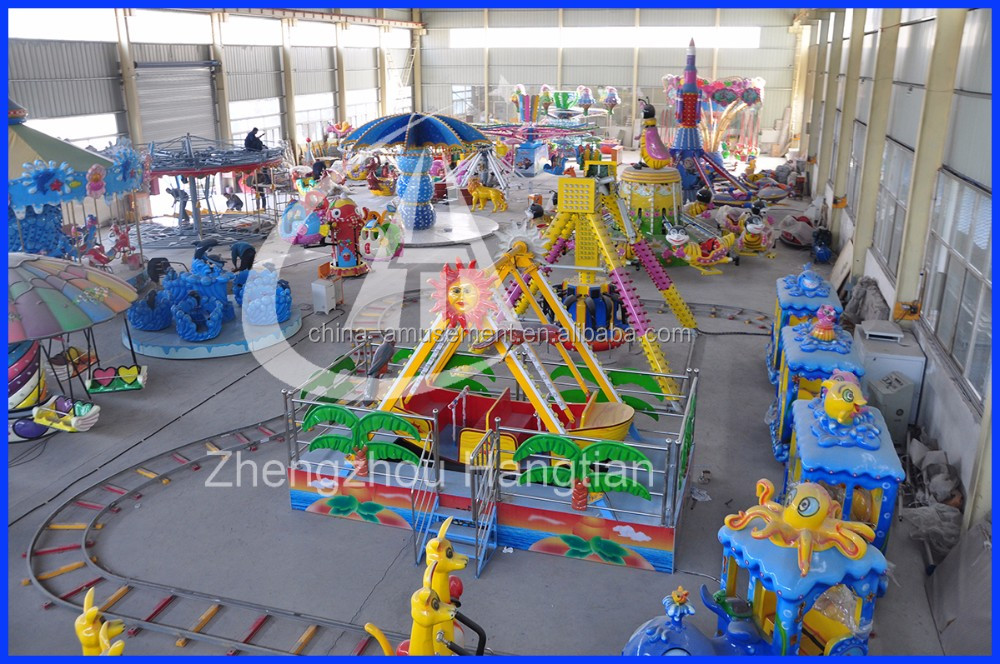 Plaza funfair amusement ride kiddy mini track train for sale