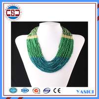 Alibaba wholesale multi layers Acrylic bead necklace clothes jewelry set