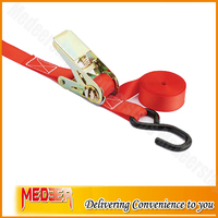 Car Transporter Straps with red webbing color