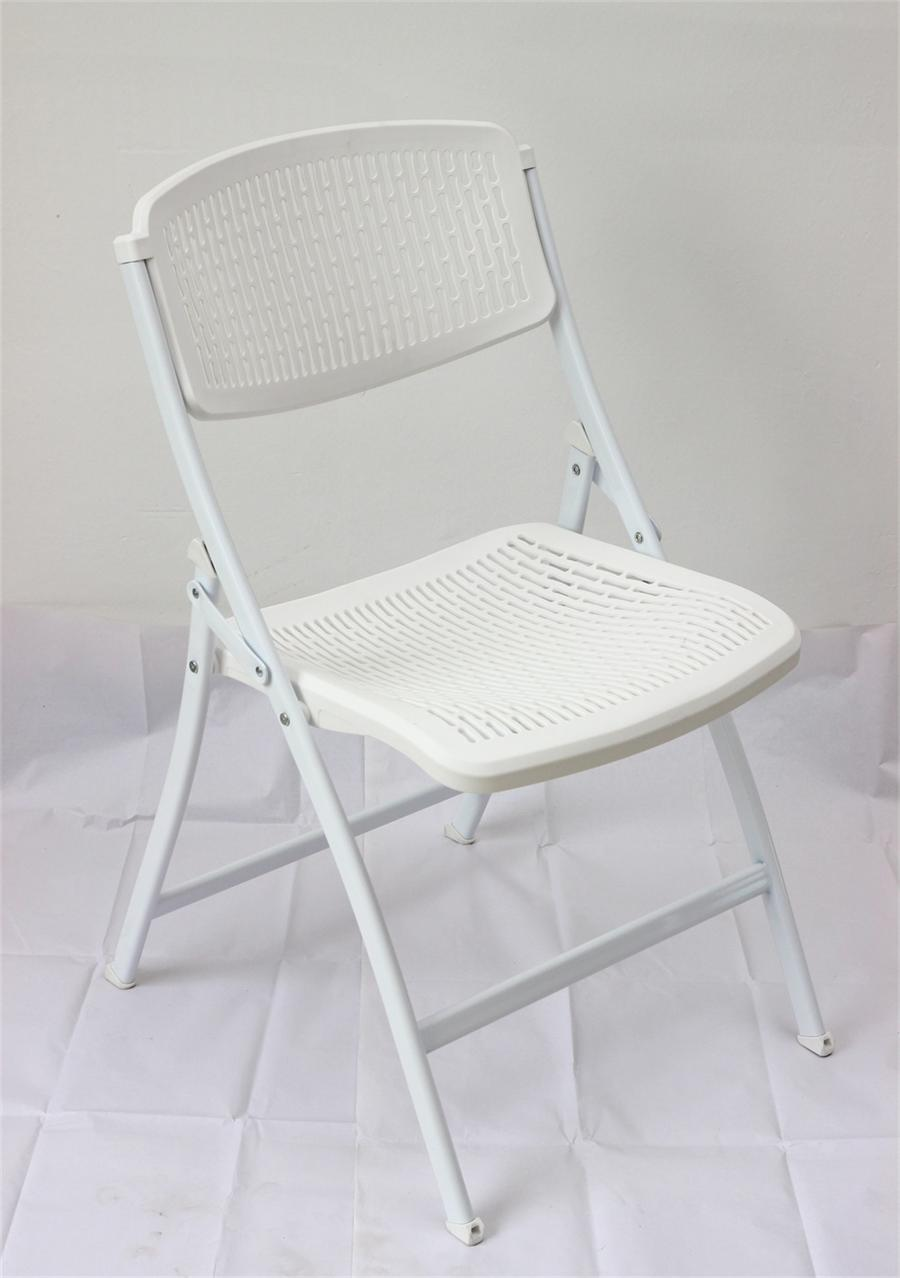 factory direct supply plastic metal mesh folding chair office