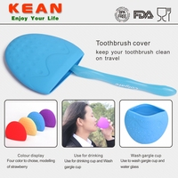 Portable outdoor custom colors food grade silicone toothbrush cover