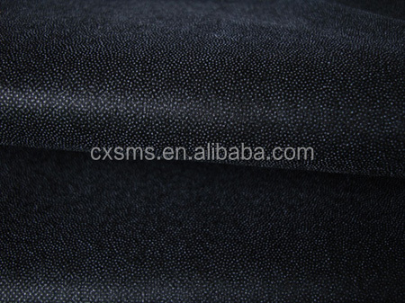 SMSZ10438 50%polyester strong fusible nonwoven interlining fabric