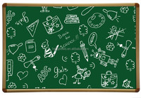 HB-B2 easy cleaning green board with aluminium frame /ceramic enamel white chalk board /teaching board