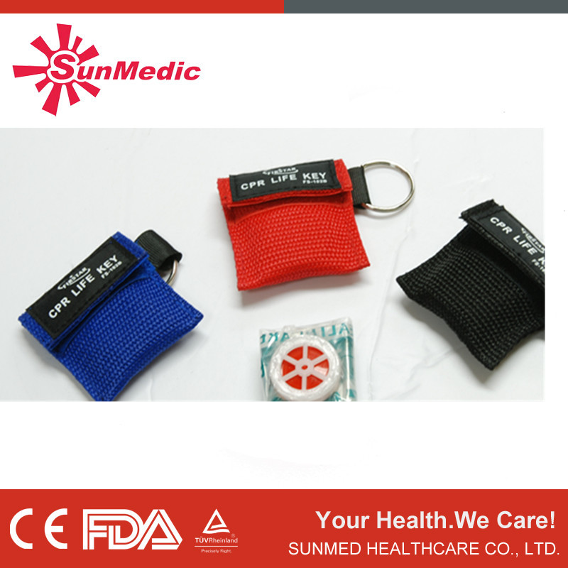 CE approval CPR face shields, one way valve cpr, CPR mask key chain