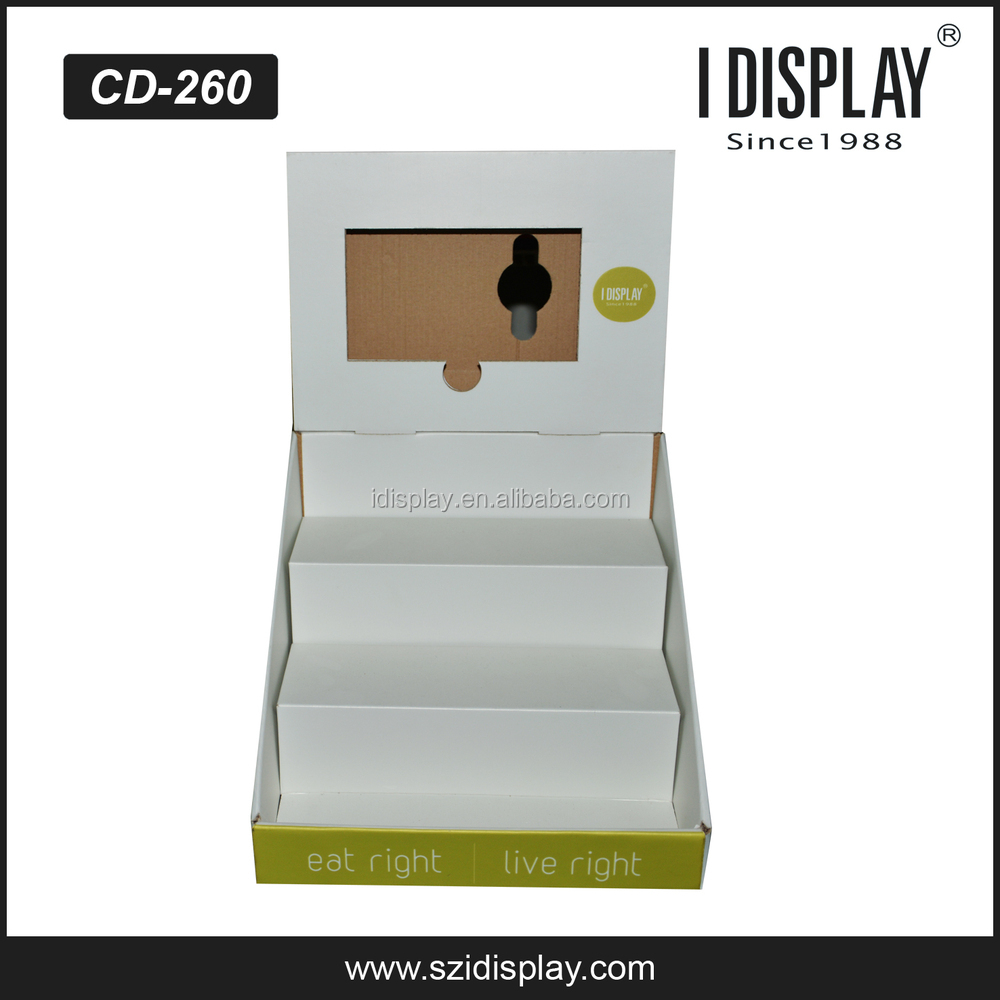 tabletop lcd display stand cardboard lcd display