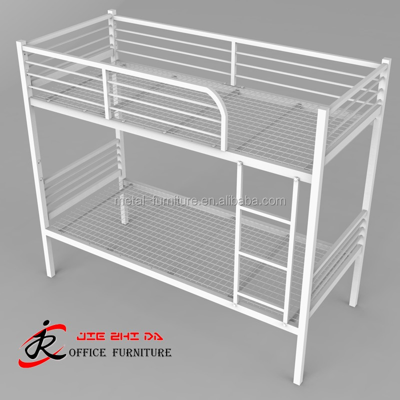 Hotel Metal Tube Heavy Duty Loft Bed Hostel Steel Triple Bunk Beds With Stairs