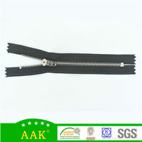 #3 platinum white gold AAK brand zipper