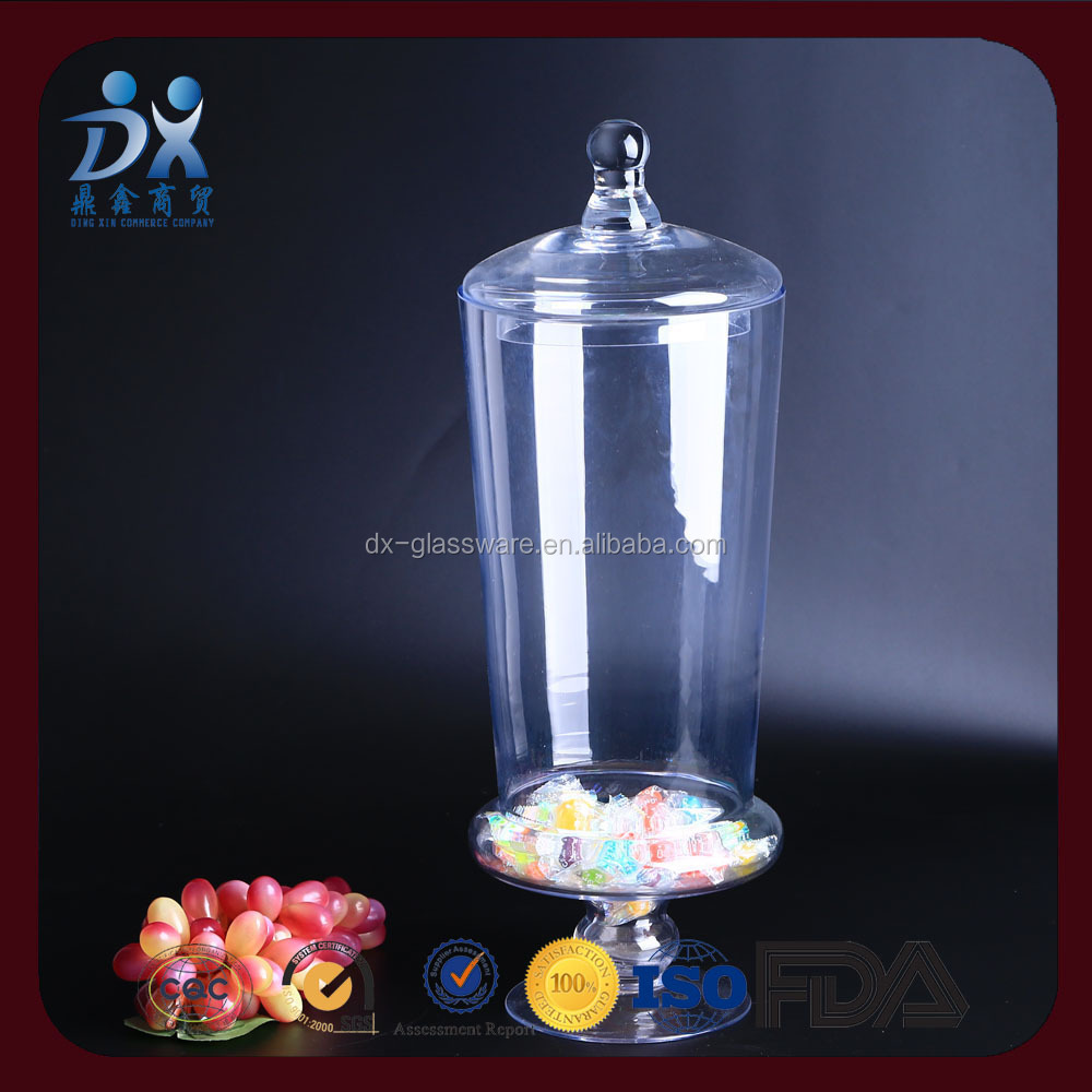 clear food glass candy jar,Tea Coffee Sugar Storage Glass Candy