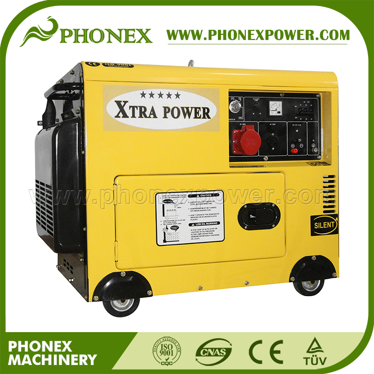 (China Supplier) 7kva Xtra Power Three Phase Silent Diesel Generator for Fiji
