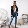 Women's Long Sleeve Womens Open Front Work Office Cardigan Blazer Jacket Outwear