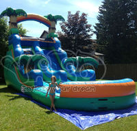 Giant commercial inflatable water slide for sale
