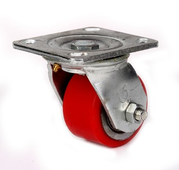 heavy duty pu cover cast iron wheels casters