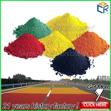 Road making paint raw material color pigment powder red/yellow/black/brown/blue/orange/green iron oxide fine powdered