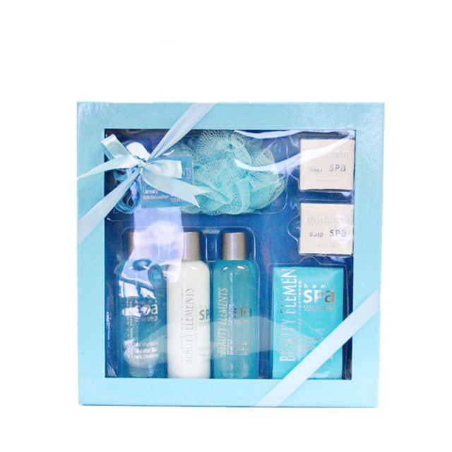 Wholesale OEM elegance blue series bath gift set