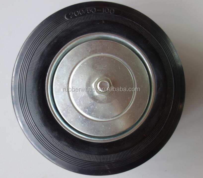 solid rubber steel lid protected wagon cart wheel