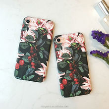 High quality Cherry Floral flower leaves Hard PC Phone Cases For iPhone X 8 8 Plus 7 7 plus 6 6S 5S SE
