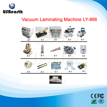 Vacuum Laminating Machine LY-866 Laminator + lcd separator +debubble remover full set lcd refurbishment machine For 12 inch lcd