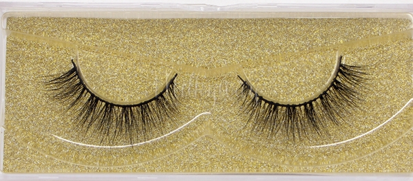 Milkyway D2092 thin soft false eyelashes handcrafted 100% real mink fur lashes extension