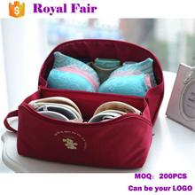 Wholesale Women Girl Travel Wash Storage Case Underwear Bra Bag