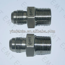 SS JIC flare and BSPT male nipple/adapter