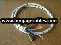 cotton braided electrical wire