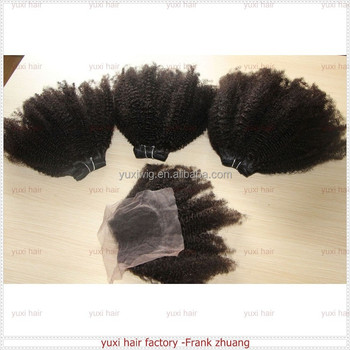 soft no shedding tangle free mongolian tight curly human hair extension kinky twist