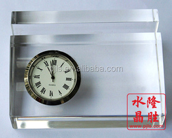 transparant decorative book table clock