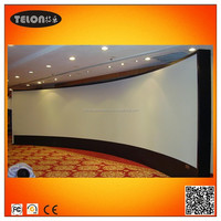 Curved fixed frame screen with 3D silver material high quality