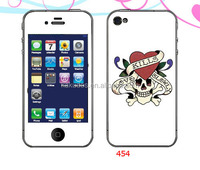 sticker custom skull head skin for iphone 4/5
