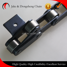 Zhejiang Dongsheng/DSC double pitch conveyor chains C2082 with attachments carbon steel big large rollers transmission chains