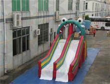 Big inflatable slide, frog inflatable water slide, Giant water slide for adult and kids