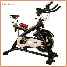 Indoor Cycle Trainer Cycle Bicycle Stationary Recreation Spin Exercise Bike Adjustable Gym Exercise Bike