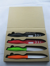 High Quality Multi Color With Cover /Type Option Gift Box Ceramic Knife Set Kitchen Fruit Chef Knives