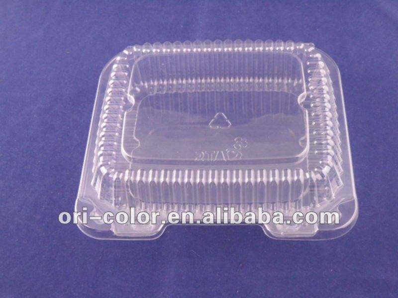 sushi clear plastic food container