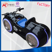 Fibreglass moto bike rides outdoor park racing car brick game for wholesale