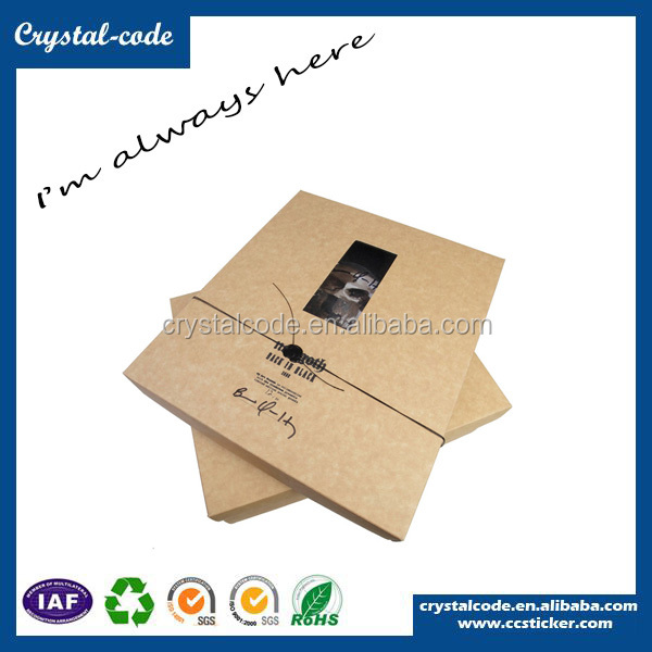 Good value super quality gift boxes custom clear window cardboard boxes for shirts packaging