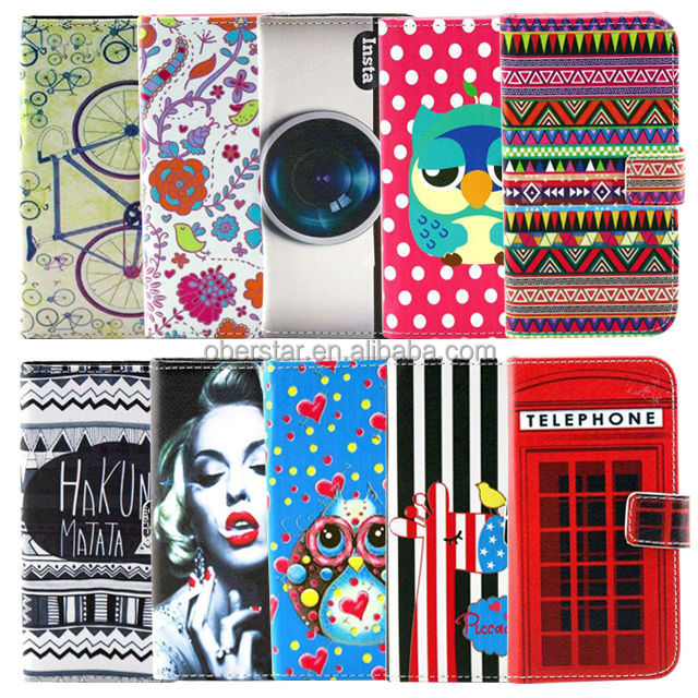 china products Printed wallet leather phone case For Samsang Galaxy S3 I9300